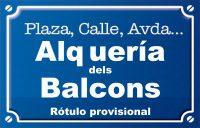 Alqueria dels Balcons (plaza)