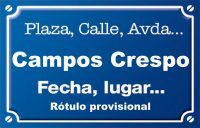 Campos Crespo (calle)
