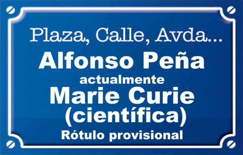 Alfonso Peña (calle)