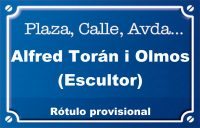 Alfred Torán i Olmos, escultor (calle)
