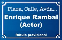 Actor Enrique Rambal (plaza)