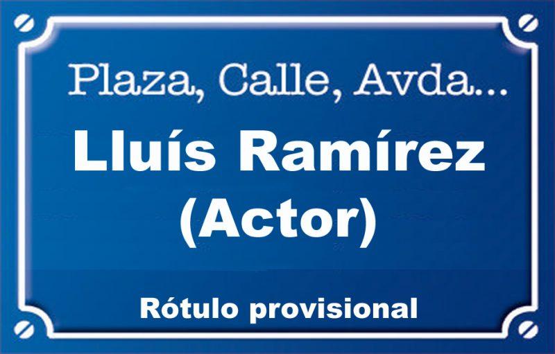Actor Lluís Ramírez (plaça)