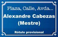 Alexandre Cabezas Mestre (calle)