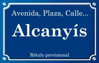 Alcanyís (calle)