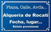 Alquería de Rocatí (camí)