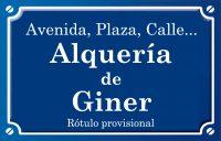Alquería de Giner (calle)
