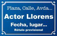 Actor Llorens (calle)