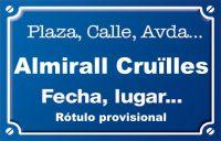 Almirall Cruïlles (calle)