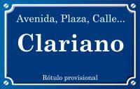 Clariano (calle)