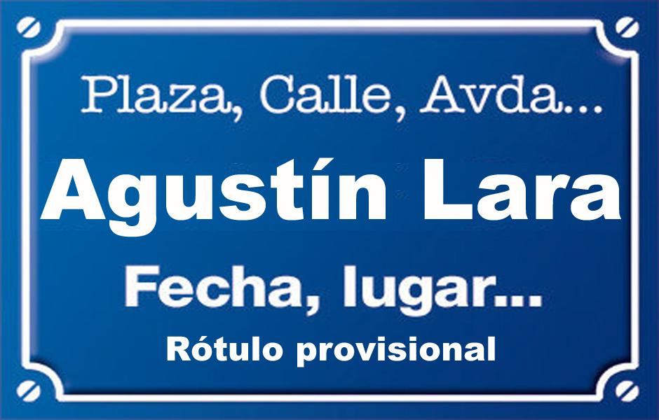 Agustín Lara (calle)