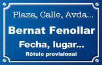 Bernat de Fenollar (calle)