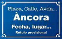 Àncora (calle)