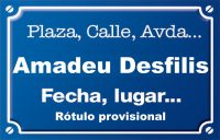 Amadeu Desfilis (calle)