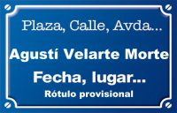 Agustí Velarte Morte (calle)