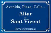 Altar de Sant Vicent (calle)