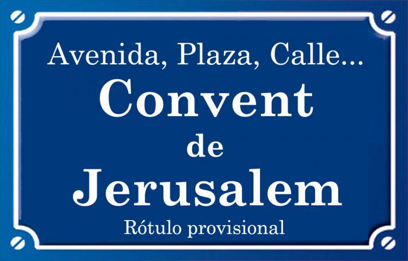 Convent de Jerusalem (calle)
