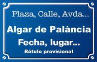 Algar de Palància (calle)