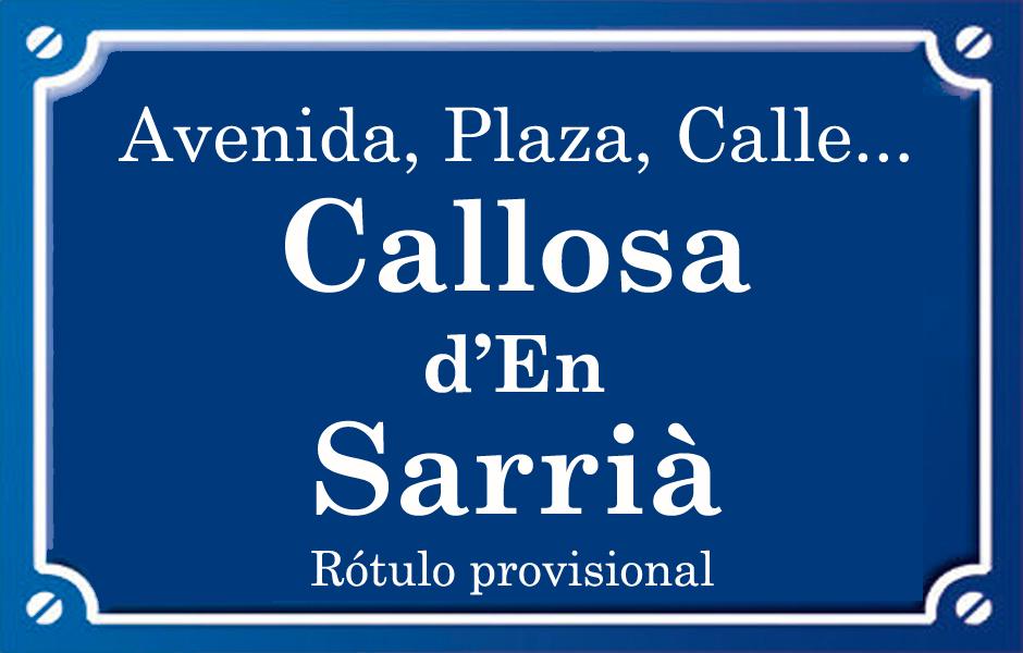 Callosa d'En Sarrià (calle)