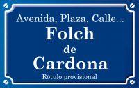 Folch de Cardona (calle)