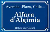 Alfara d'Algímia (calle)