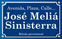 José Meliá Sinisterra (calle)