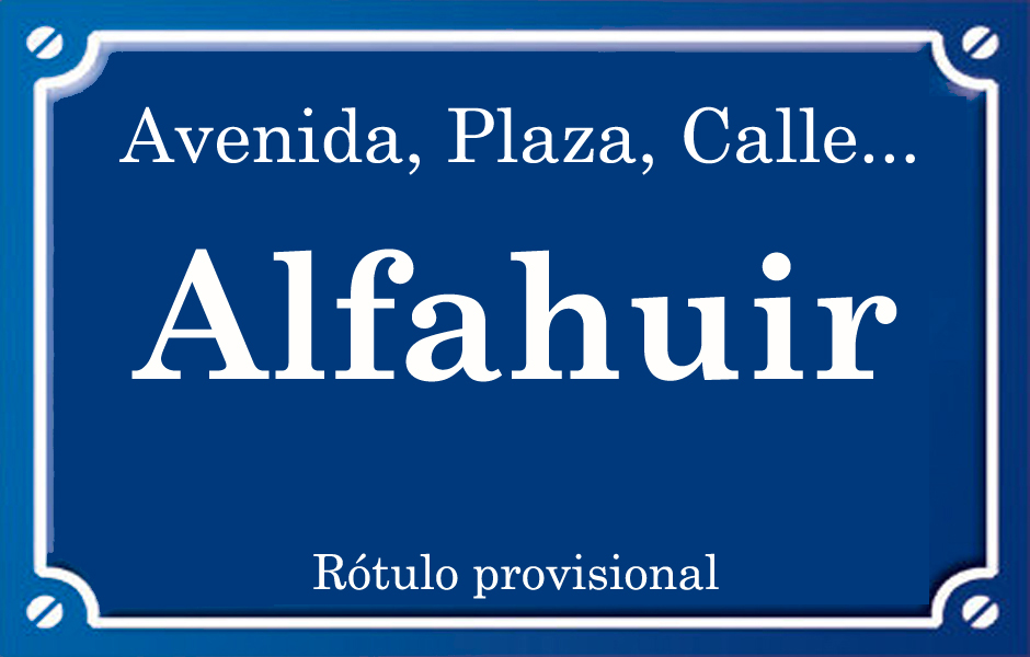 Alfahuir (calle)