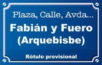 Arquebisbe Fabián y Fuero (calle)