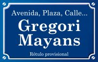 Gregori Mayans (calle)