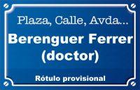 Doctor Berenguer Ferrer (plaza)