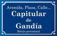 Capitular de Gandia (calle)