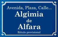 Algimia d'Alfara (calle)