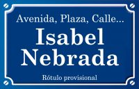 Isabel Nebrada (calle)