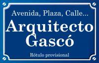 Arquitecto Gascó (calle)