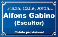 Escultor Alfons Gabino (calle)