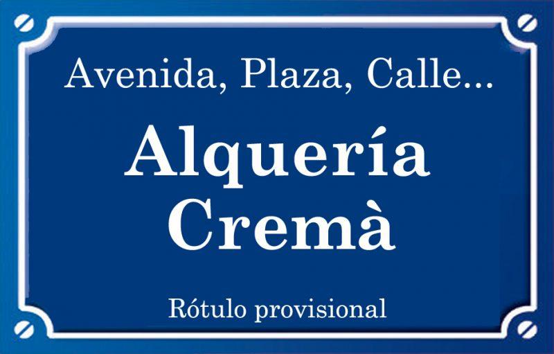 Alquería Cremà (calle)