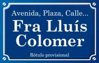 Fra Lluís Colomer (plaza)