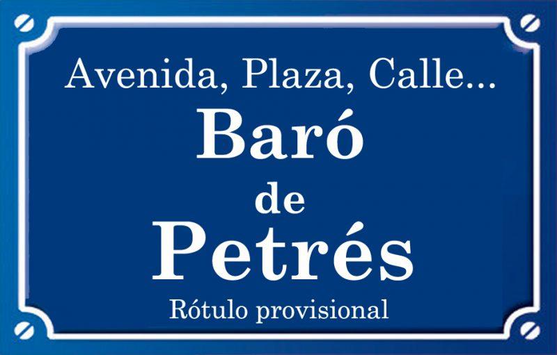 Baró de Petrés (calle)