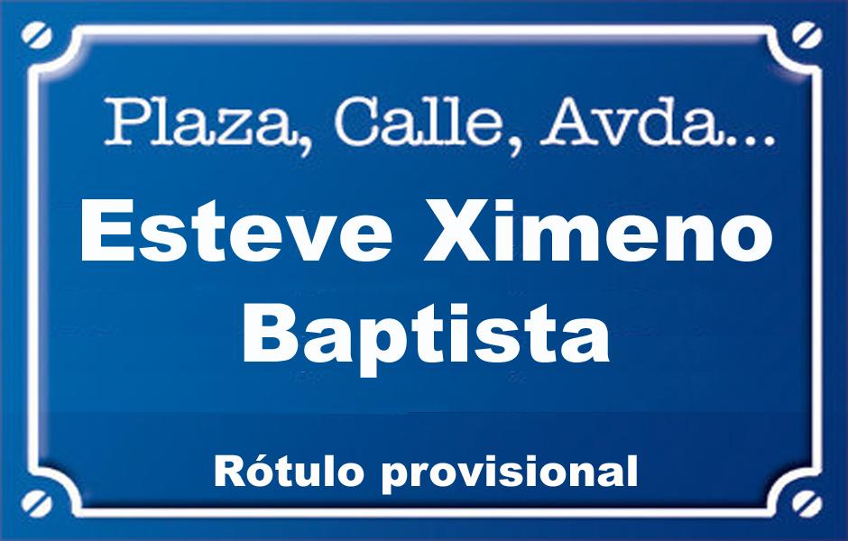 Baptista Esteve Ximeno (calle)
