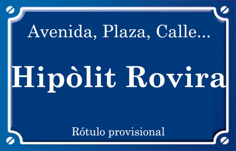 Hipòlit Rovira (calle)