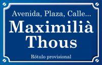 Maximilià Thous (calle)