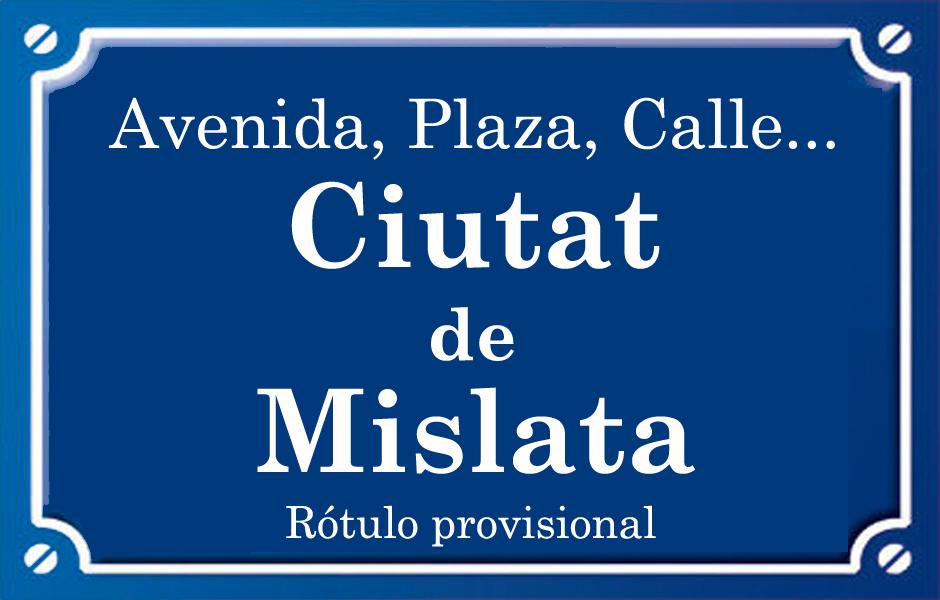 Ciutat de Mislata (calle)