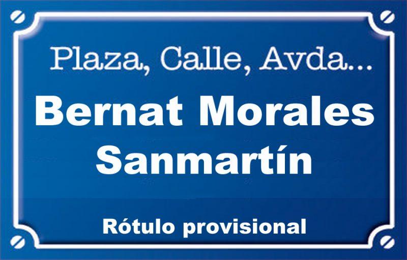 Bernat Morales Sanmartín (calle)