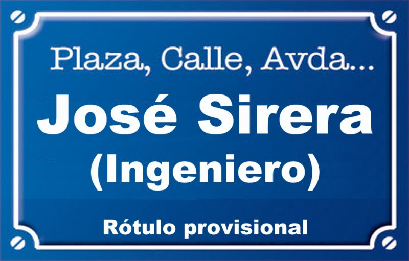 Enginyer José Sirera (calle)