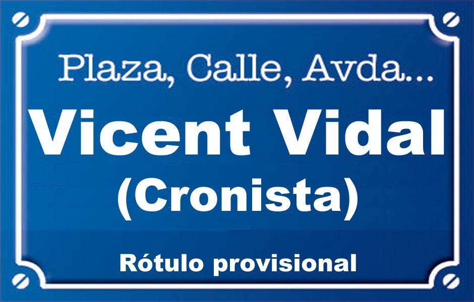 Vicent Vidal Cronista (calle)