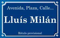 Lluís Milán (calle)