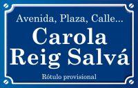 Carola Reig Salva (plaza)