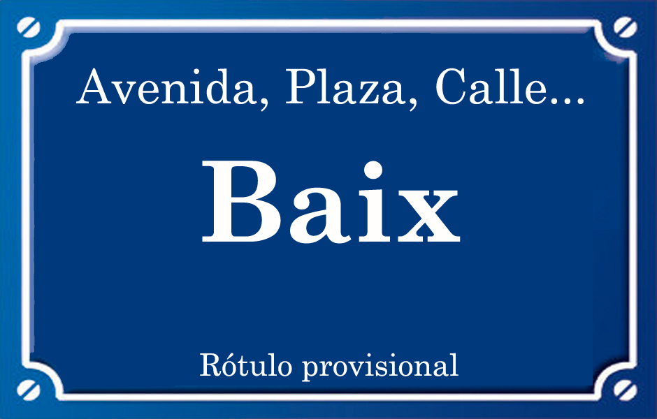 Baix (calle)