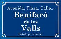 Benifairó de les Valls (calle)
