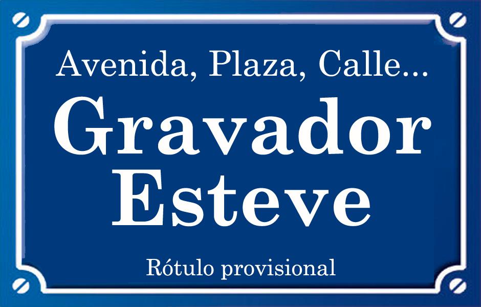 Gravador Esteve (calle)