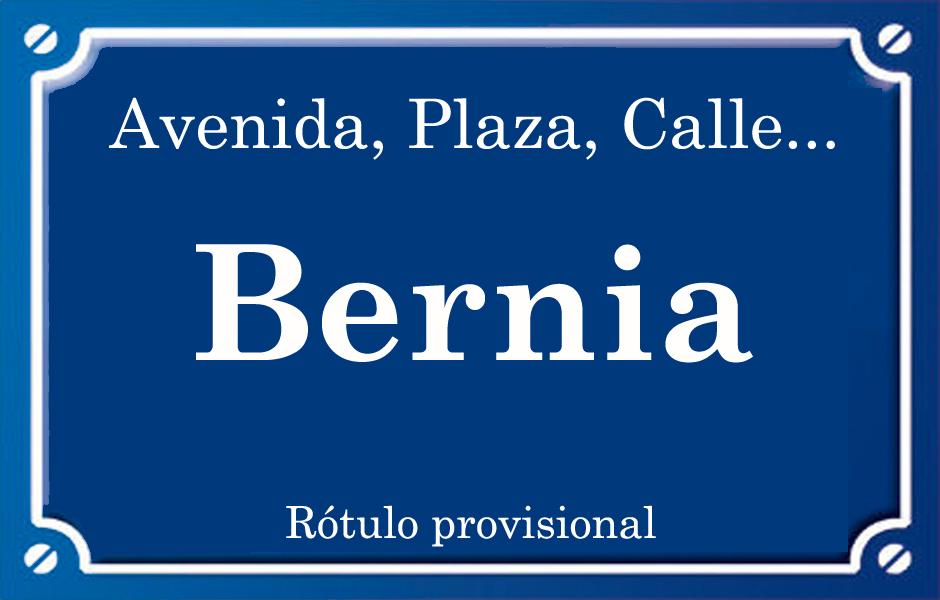 Bèrnia (calle)